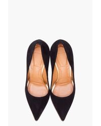 Givenchy | Black Suede Zip Heels | Lyst