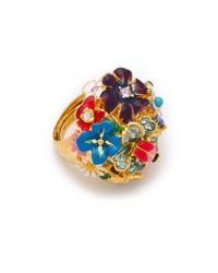 Kenneth Jay Lane | Metallic Garden Party Ring | Lyst