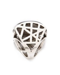 Low Luv by Erin Wasson - Cage Ring with Black Oval Cabochon - Lyst