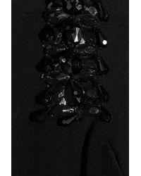 Notte by Marchesa Black One Shoulder Silk Satin Gown