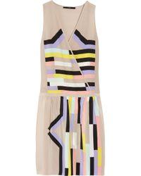 Tibi Multicolor Printed Silk Dress