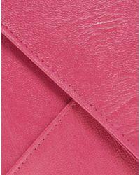 ASOS | Pink Metal Frame Clutch Bag | Lyst