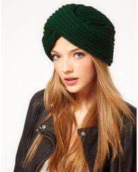 ASOS Green Chunky Knit Turban