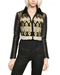 James Long Multicolor Embroidered Nappa Leather Jacket