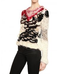 James Long Multicolor Mixed Wool Lurex Hand Knitted Sweater