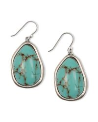 Lucky Brand | Blue Small Turquoise Drop Earrings | Lyst