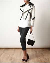 Acne | Beige Rita Leather and Shearling Jacket | Lyst