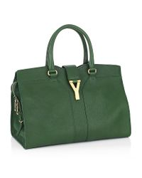 Saint Laurent - Green Chyc Leather Bag - Lyst