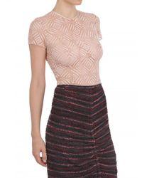 Nina Ricci Pink Lace Top