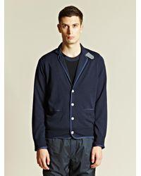 Sacai - Blue Sacai Mens Contrast Colour Cardigan for Men - Lyst