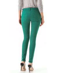 7 For All Mankind Green The Skinny Jeans