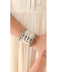 Anndra Neen | Metallic Quilted Bangle | Lyst