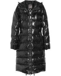 Duvetica Black Alia Hooded Down Coat