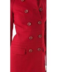 Rachel Zoe Red Farrah Raglan Coat