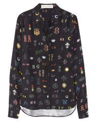 Stella McCartney | Blue Printed Silk Shirt | Lyst