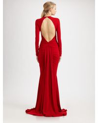 Michael Kors - Red Jersey Goddess Gown - Lyst