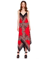 Michael Kors | Red Printed Maxi Dress | Lyst