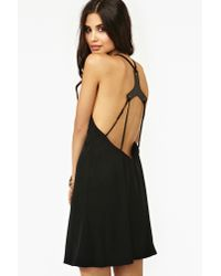 nasty gal harness tank dress in black  lyst