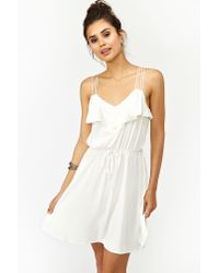 Nasty Gal | White Geo Crochet Dress | Lyst