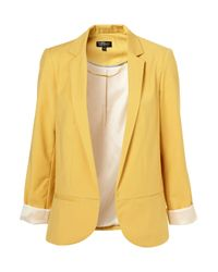 Topshop | Yellow Structured Blazer | Lyst