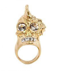 Alexander McQueen   Metallic Punk Shell Skull Ring   Lyst