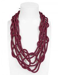 Alienina | Purple Climbing Web Necklace | Lyst