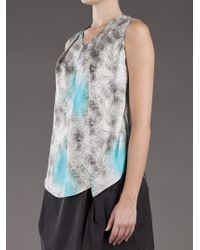 Carven   Gray Fur Print Top   Lyst