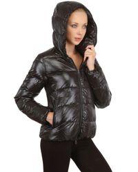 Duvetica Black Thiaquattro Shiny Nylon Down Jacket