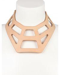 Fleet Ilya - Pink Web Collar Necklace - Lyst