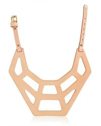 Fleet Ilya | Pink Web Collar Necklace | Lyst