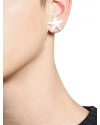 Givenchy White Star Earrings for men