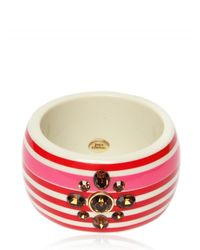 Juicy Couture | Red Striped Bangle Bracelet | Lyst