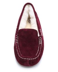UGG - Red Ansley Slippers - Lyst