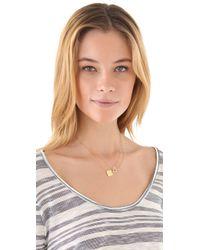 Jennifer Zeuner Pink Square Diamond Hamsa Necklace