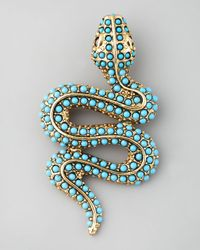 Kenneth Jay Lane - Blue Snake Pin - Lyst
