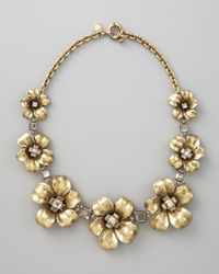 Marc By Marc Jacobs | Metallic Flower Garland Necklace | Lyst