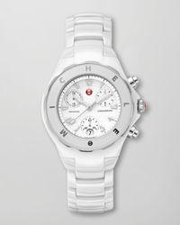 Michele Tahitian Ceramic Watch White for men