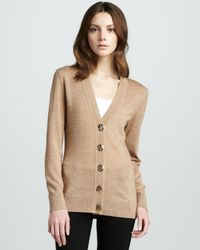 Tory Burch | Natural Simone Cardigan | Lyst