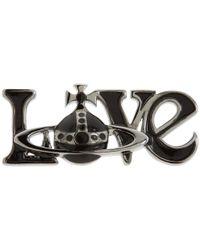 Vivienne Westwood - Metallic Love Orb Pin - Lyst