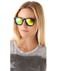 Wildfox Black Classic Fox Mirrored Sunglasses