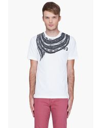 Y-3 White Scarf Print Tshirt for men
