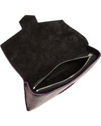 Alexander Wang | Purple Ostrich Giant Eyeglass Case Clutch | Lyst