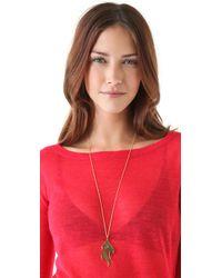 Jennifer Zeuner Metallic Large Diamond Flame Necklace