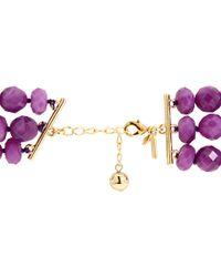 Kate Spade   Purple Give It A Swirl Triple Row Necklace   Lyst