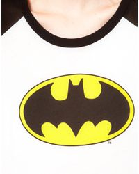 Lazy Oaf White X Batman Crop Top With Logo