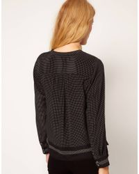 Whistles Black Prudence Spot Top
