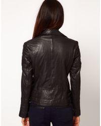 Whistles Black Roxy Biker Jacket