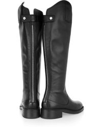 Gucci | Black Leather Knee Boots | Lyst