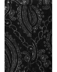 Marc Jacobs | Gray Paisley Jacquardpaneled Woolblend Satin Pants | Lyst