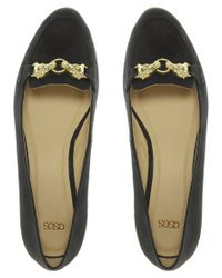 ASOS | Black Asos Marshmallow Loafers with Trim | Lyst